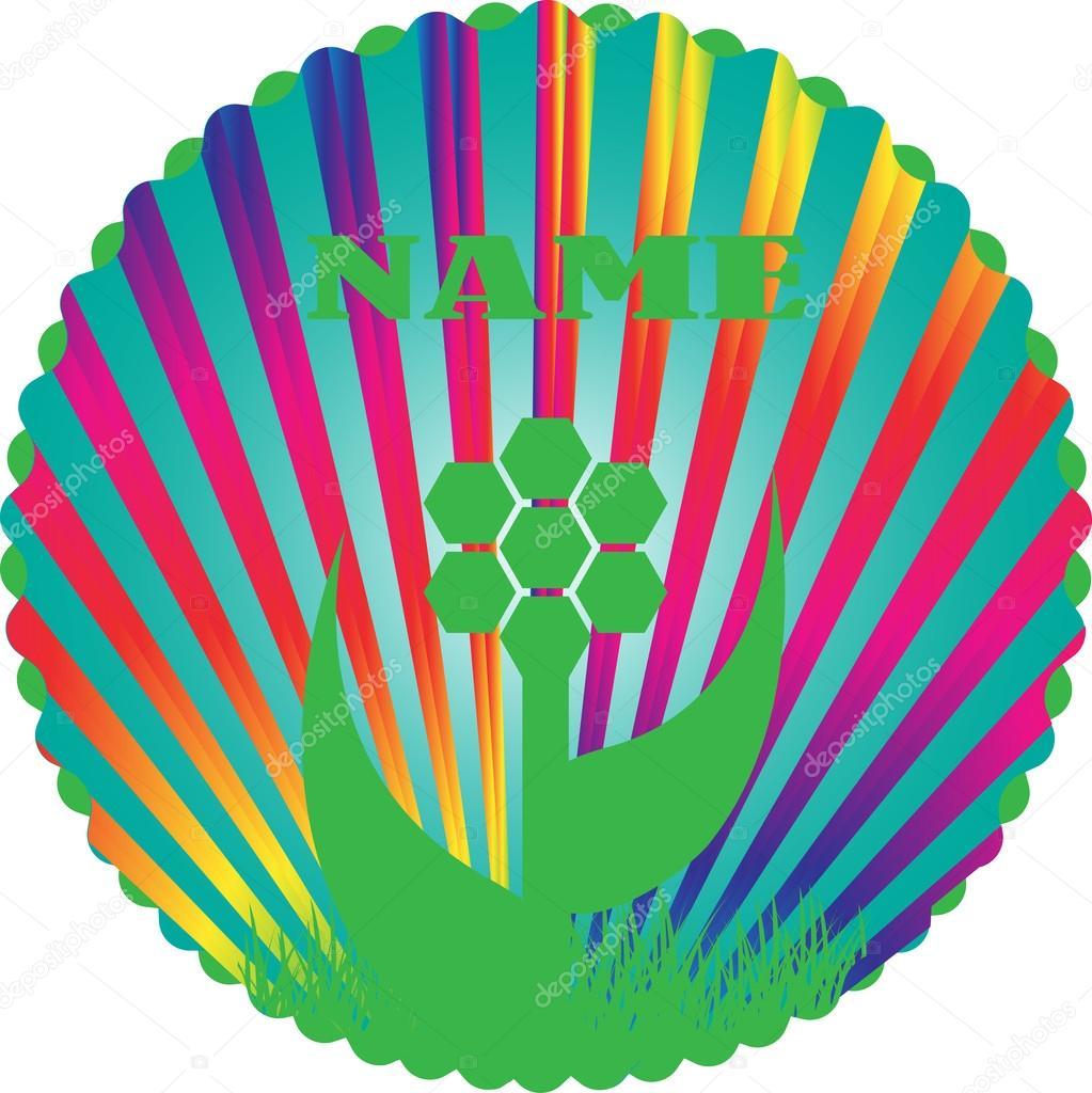 Vector rainbow spiral
