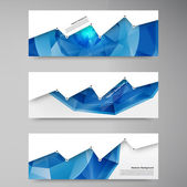 Fotografie Vector abstract background. Polygon blue