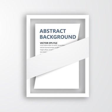 Vector 3D frame. Design for image