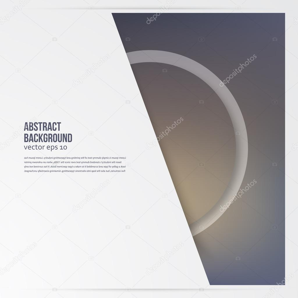 Vector circle object design trend and transparent stock vector