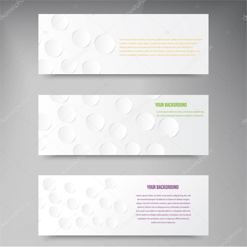 Vektor-Papier-Vorlage-Banner. Weiß-Hinweis — Stockvektor © ikatod ...