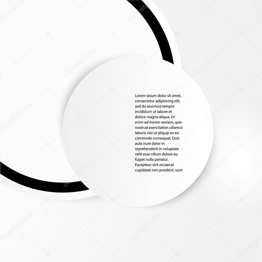 vector abstract circles template web design stock vector ikatod