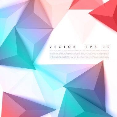 Vector background abstract polygon triangle. polygonal design geometrical clip art vector