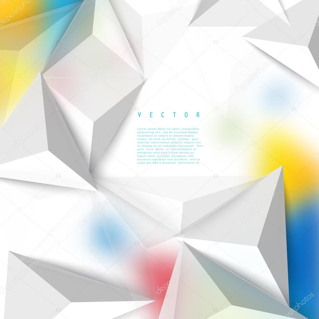 Vector color background abstract polygon triangle  — Stock