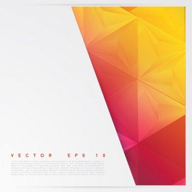 """Картина, постер, плакат, фотообои """"Векторный фон абстрактный многоугольник треугольники."""", артикул 68367287"""
