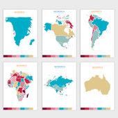 Vektorové abstraktní politická mapa