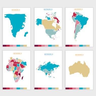 Vector Abstract political map.
