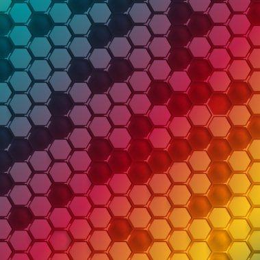 Vector Abstract hexagon shape design template.