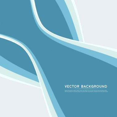 Vector Abstract blue background.