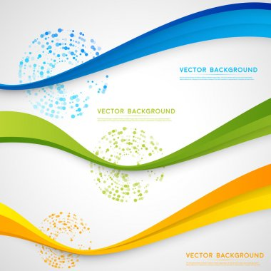 Vector abstract background design wavy.  Brochure design templates collection and waving stock vector