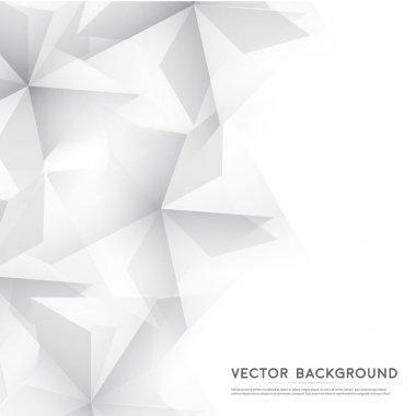 """Картина, постер, плакат, фотообои """"векторное резюме геометрическая форма от серых кубов."""", артикул 70478363"""