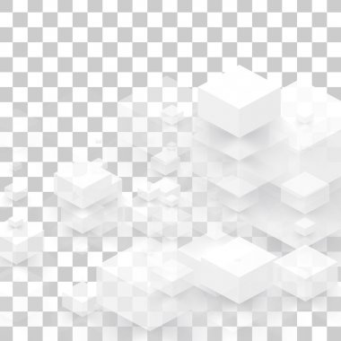 Vector background abstract squares.
