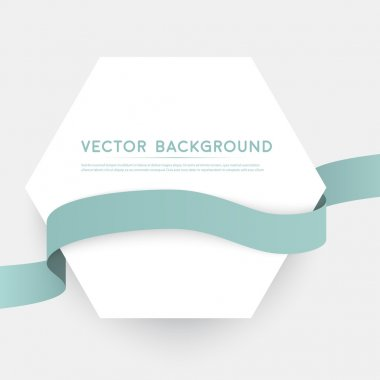 Vector color ribbons isolated on white background