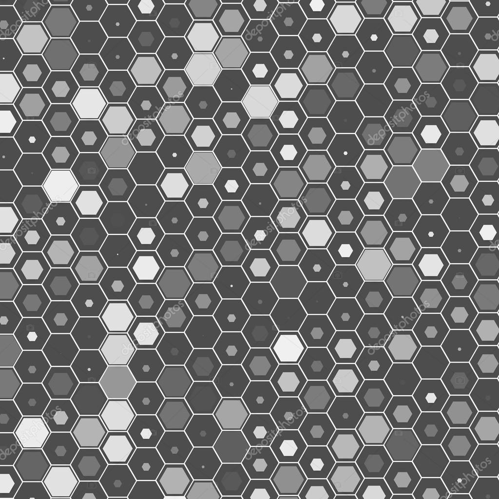 Vector abstract 3d hexagonal