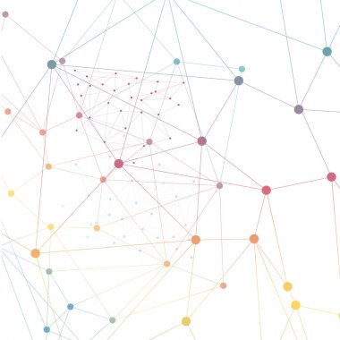 Vector network background abstract polygon triangle. polygonal