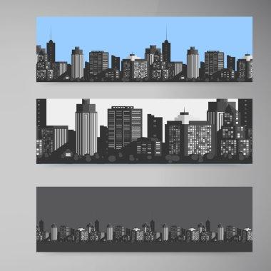 "Картина, постер, плакат, фотообои ""Вектор баннер современный город."", артикул 72621463"