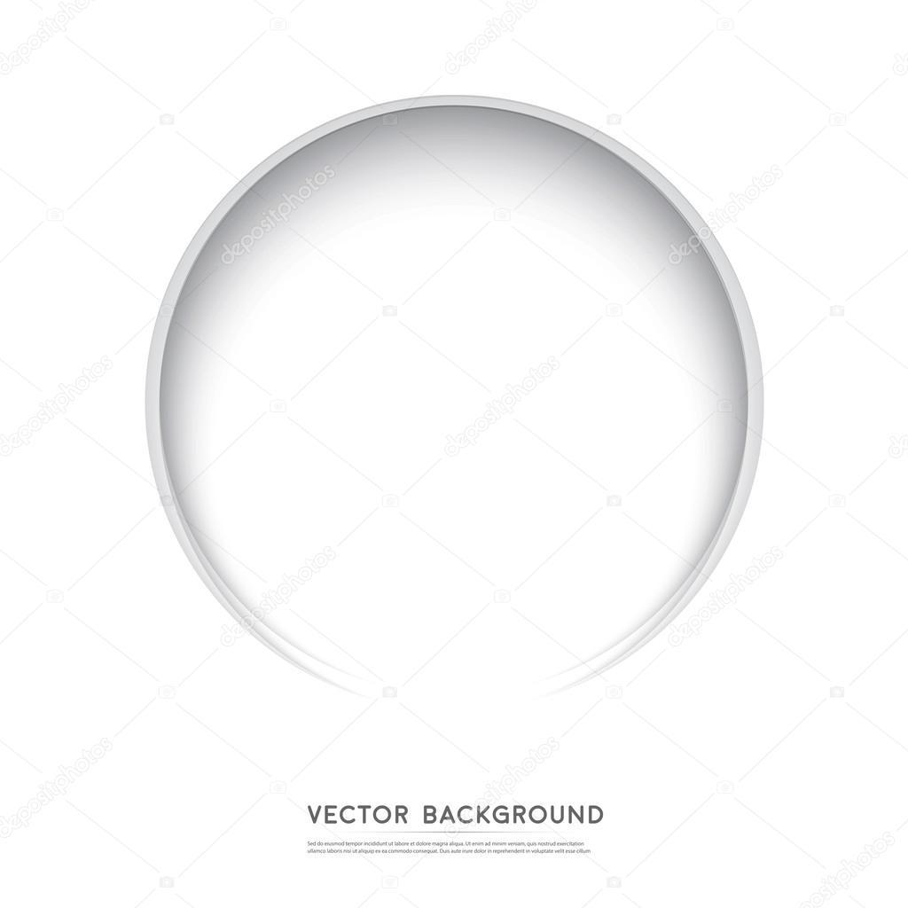 Vector Paper circle banner.