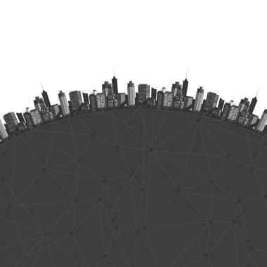 Vector modern city.