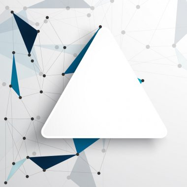 Vector network background abstract polygon