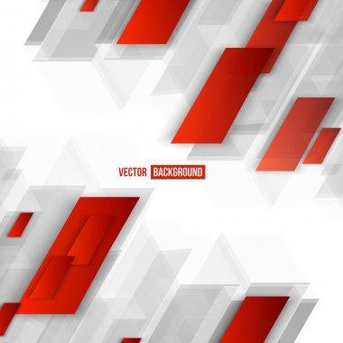 """Картина, постер, плакат, фотообои """"векторная геометрическая форма из красного """", артикул 74385185"""