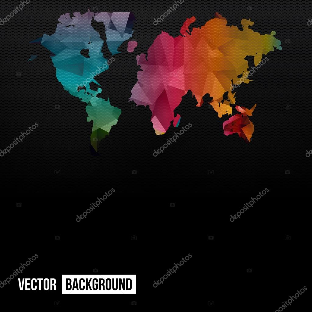 Vector Abstract Telecommunication Earth Map  — Stock Vector © ikatod