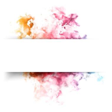 Vector color cloud.