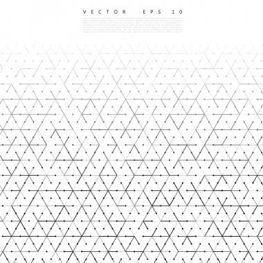 Vector backgrond lines and triangles Vector Illustration stock vector