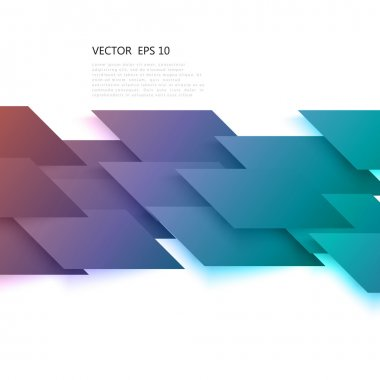 Vector Abstract geometric shape from gray diagonal romb.