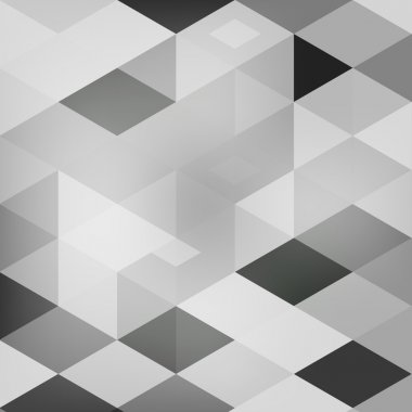 Vector Abstract geometric shape from cubes.