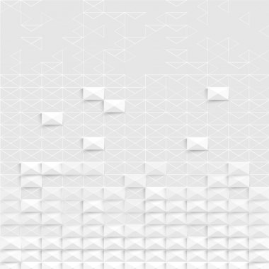 Vector Abstract geometric shape from triangles. squares clip art vector