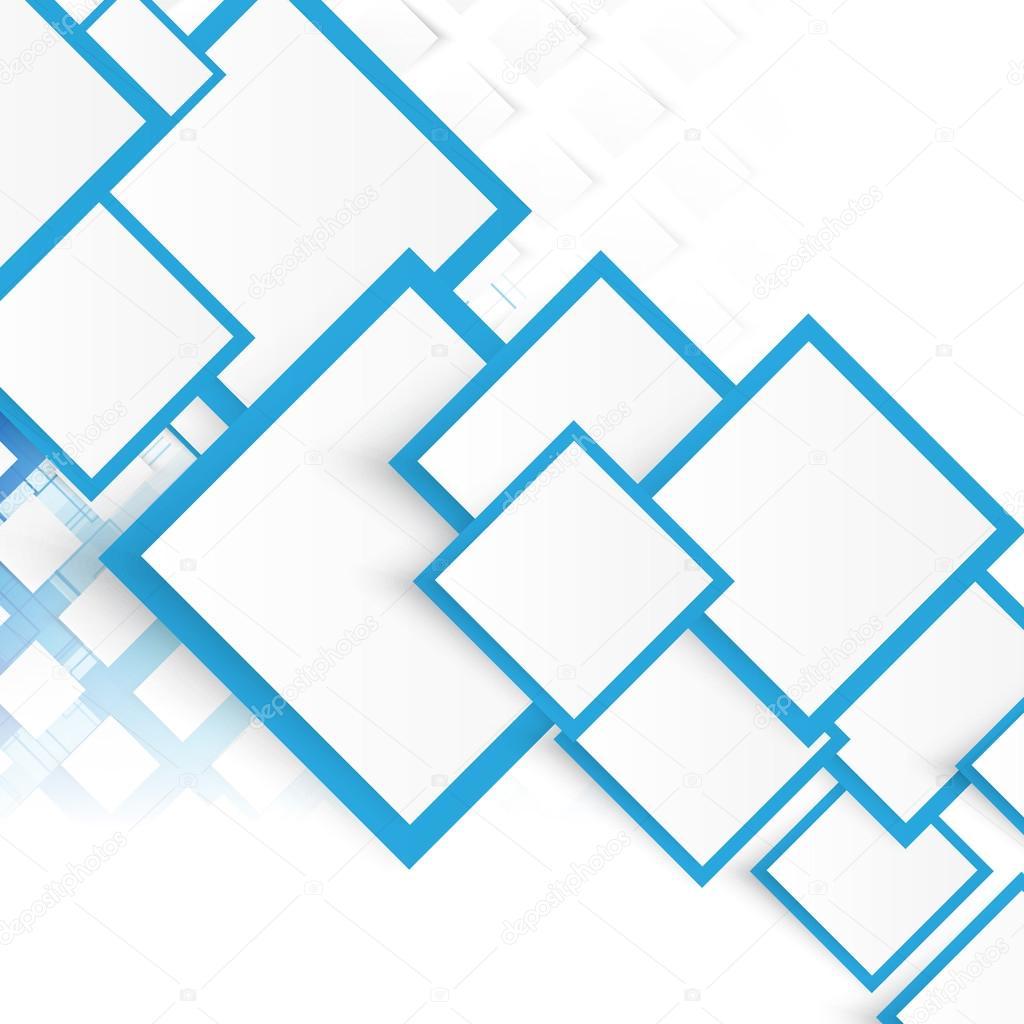 Quadrati blu di vettore sfondo astratto vettoriali for Piani domestici di 2000 piedi quadrati