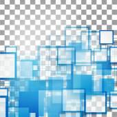 Vektor blaue Quadrate. Abstrakt