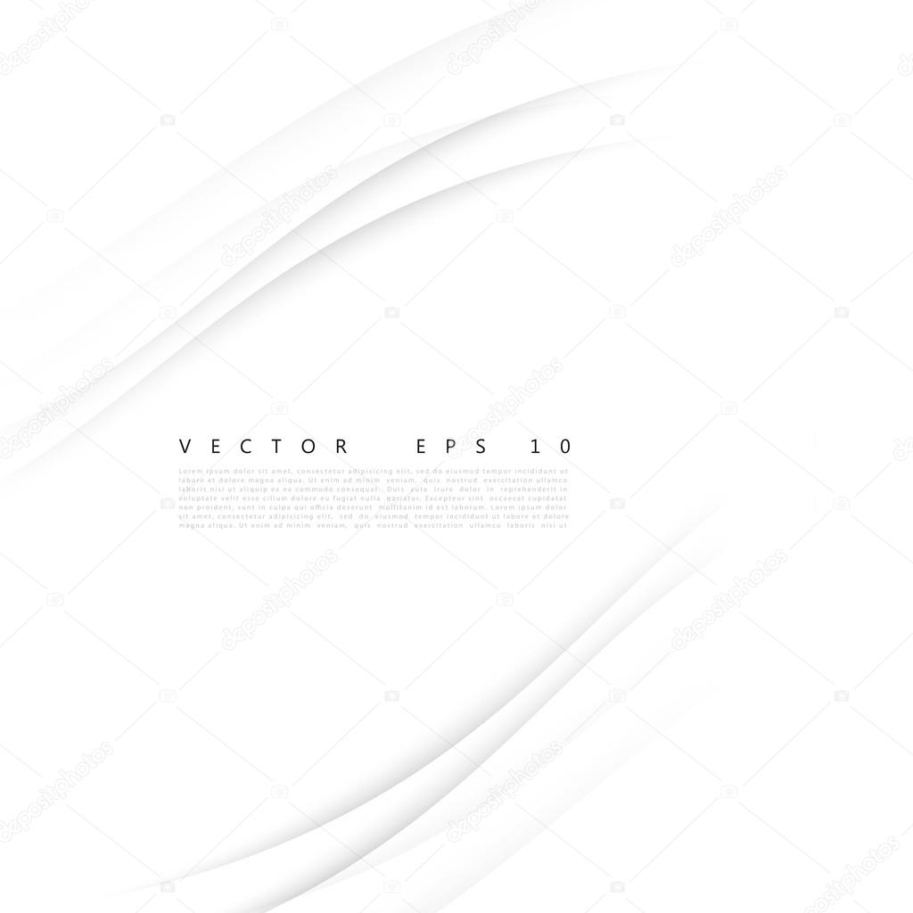 Vector white of wavy banner.