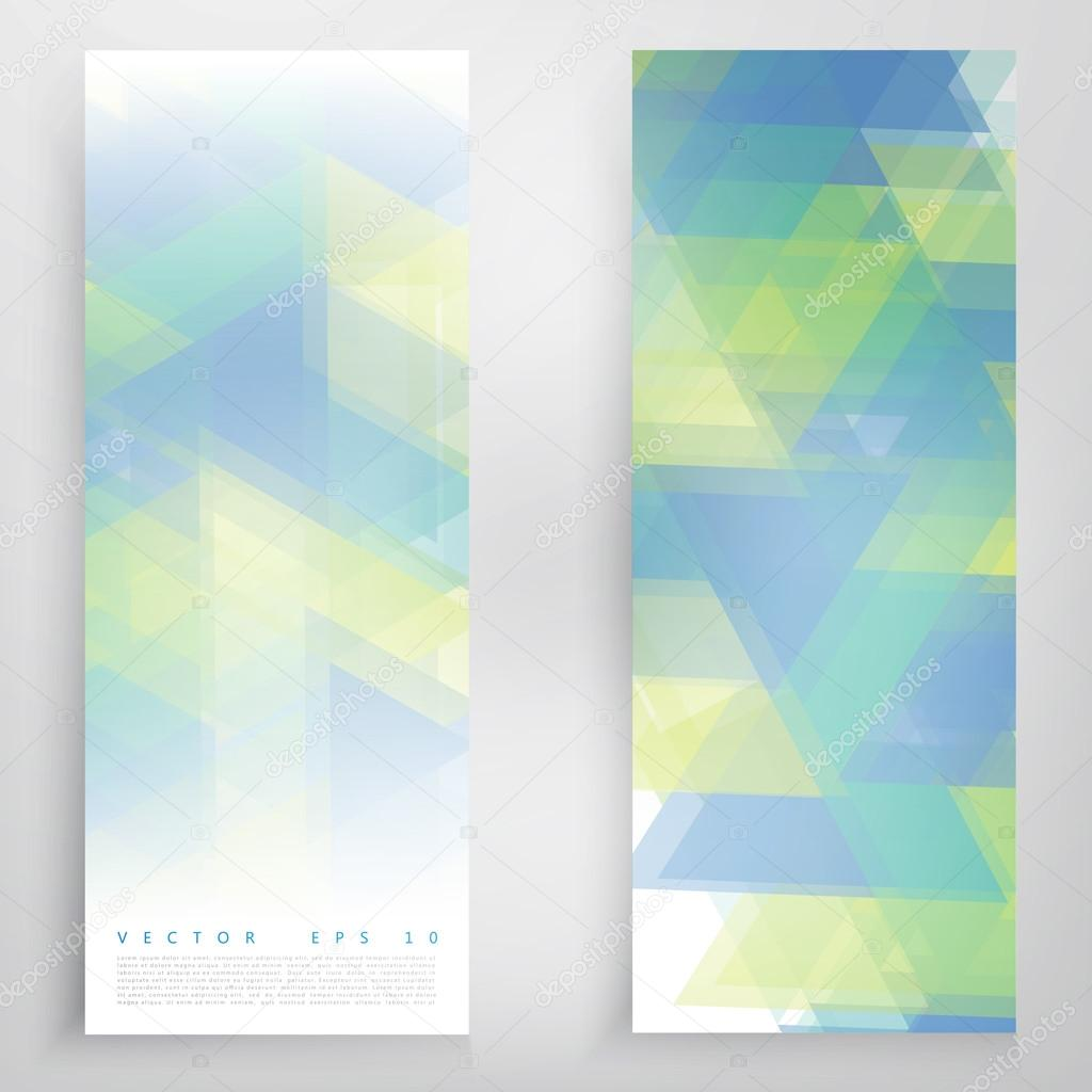 Vector banners and triangles.