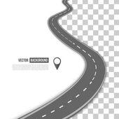 Vektorová cesta na silnici