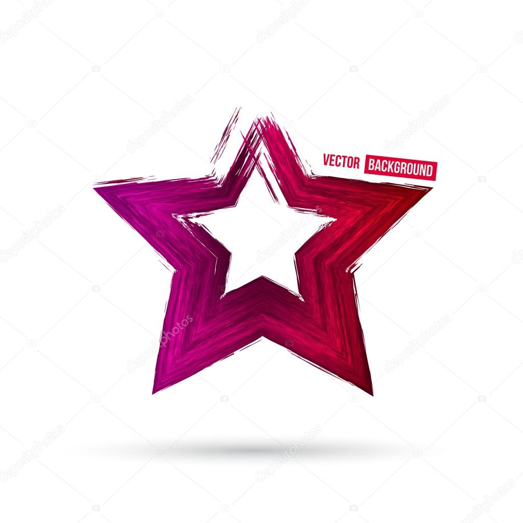 disegno di stella colorata ? vettoriali stock © ikatod #90963046 - Disegno Stella Colorate
