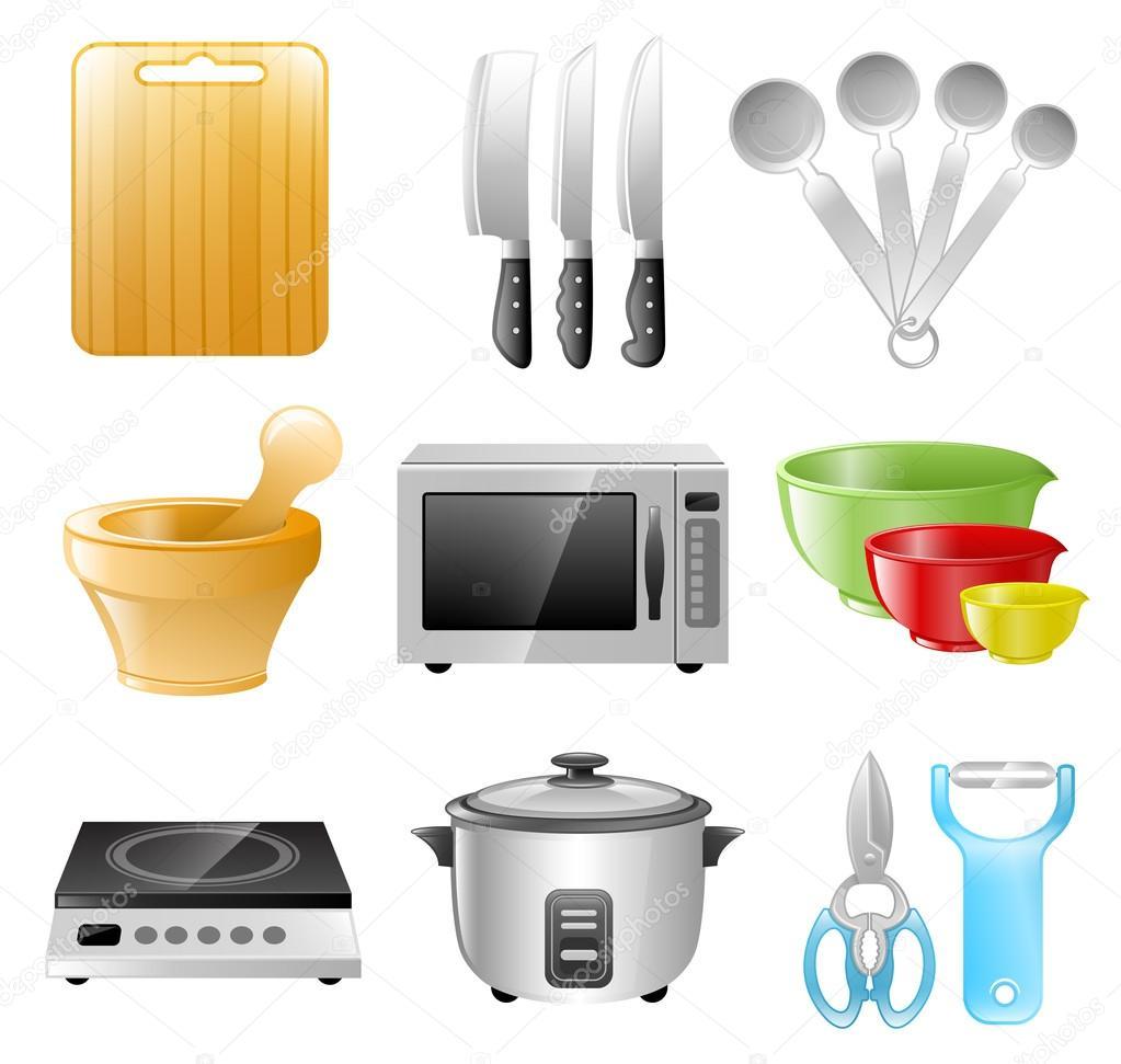 Utens lios de cozinha cozinhar restaurante vetores de for Utensilios de restaurante