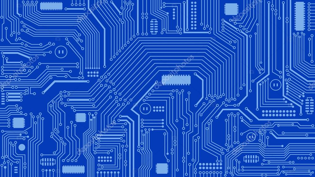 Circuit Board Background, Abstract, Computers, Technology — Stock ...
