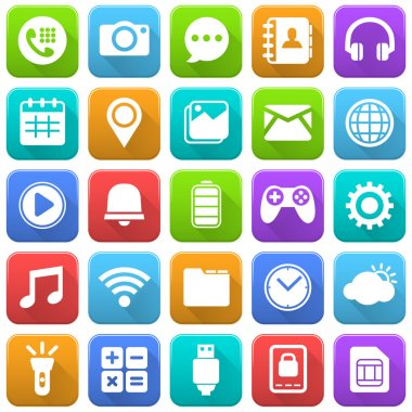 Mobile Icons, Social Media, Mobile Application, Internet