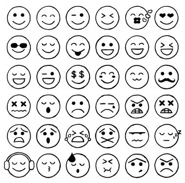 Smiley Icons, Emoticons, Facial Expressions, Internet