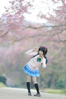asian schoolgirl with nature