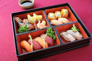 Japanese Bento sushi and soba