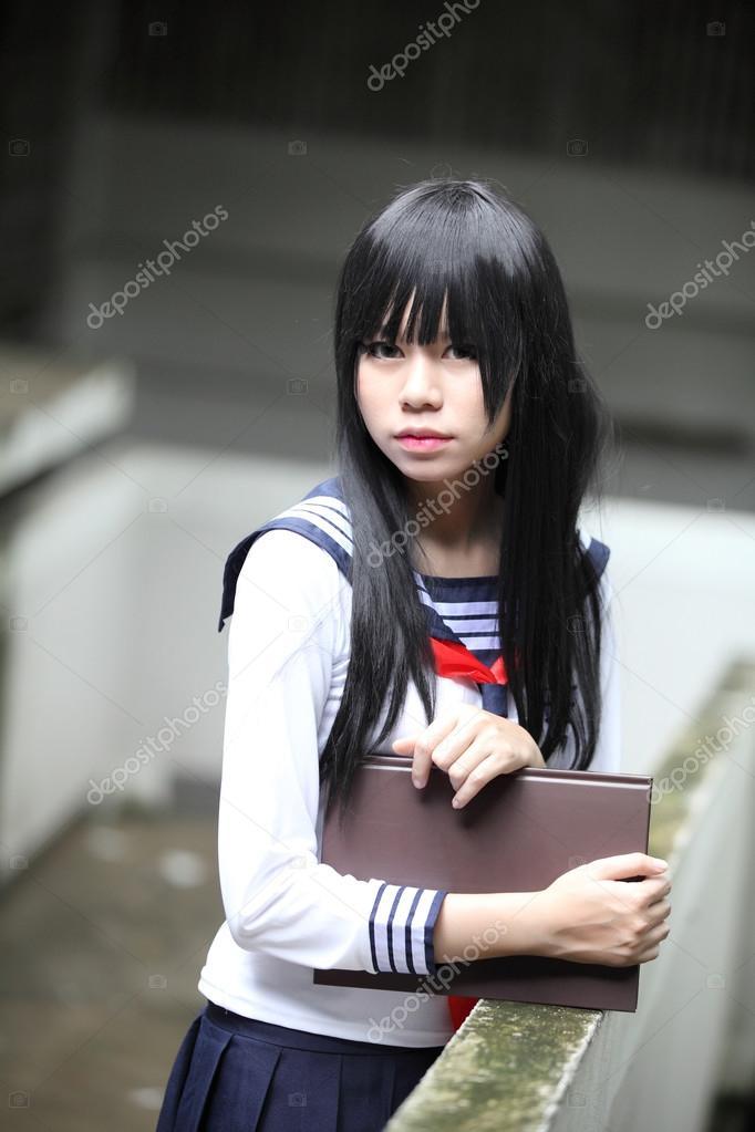 Asian Schoolgirl Stock Photo
