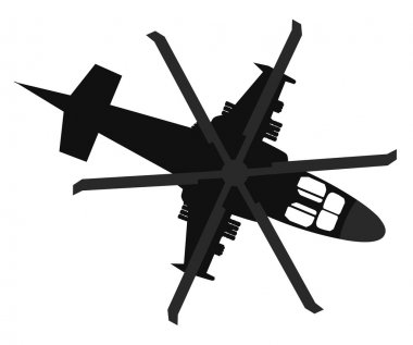 Helicopter icon. Top view