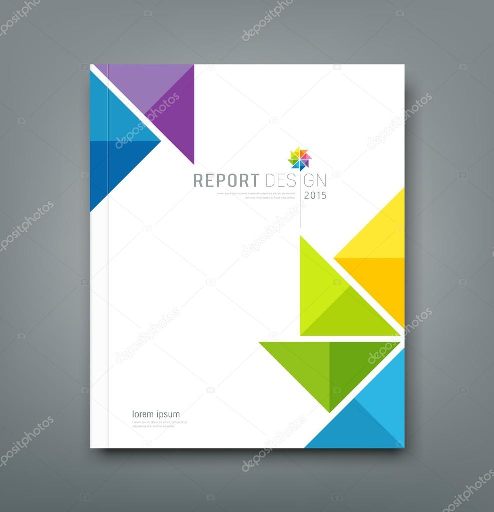 Cover Annual report, colorful windmill origami paper design background, vector illustration stock vector