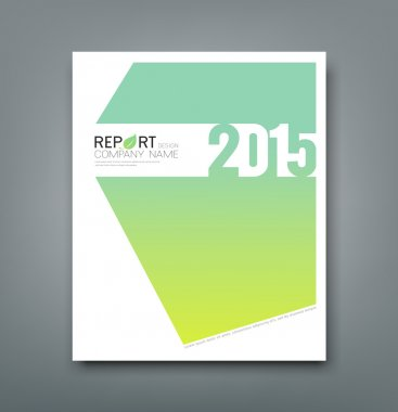 Cover Report number 2015 and eco green abstract design background
