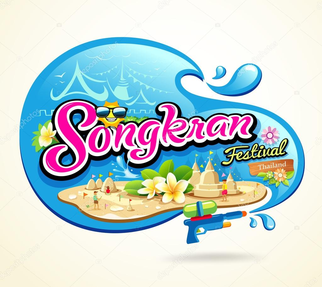 Songkran Festival Period of April, in the summer of Thailand