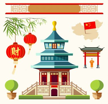 Vector Buildings of China style collections design