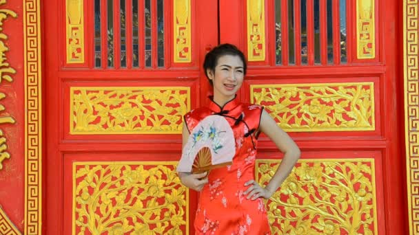 Woman in dress of Chinese traditional.