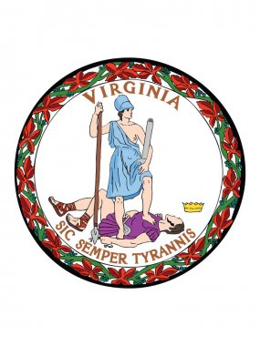 Great Seal of US Federal State of Virginia (Old Dominion, Mother of Presidents)